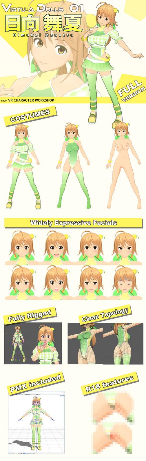 Virtu-A-Dolls 01: Himukai Manatu, full ver info by kafuji