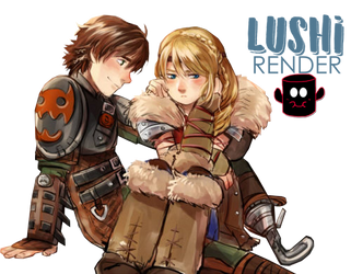 Hiccup and Astrid by Lushi08