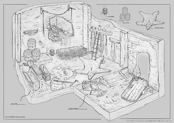 Haunted Barbarian Sleeping Quarters by Steven-Ashford