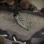 Rune Leaf Pendant in Silver by Mortuhm