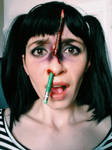 Pencil Through the Nose by evil-radiator