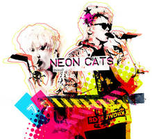 TaeKey_Neon Cats by limit73er