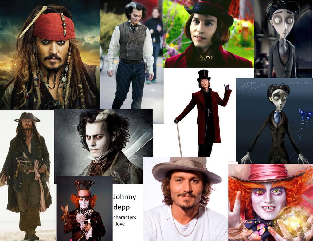 Colage Into Johnny Depp Costumes Wwwtollebildcom