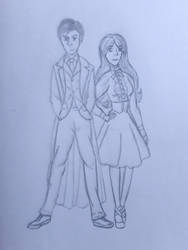 Anne and the 10th doctor (David Tennant) by annemarijk