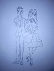 Anne and the 9th doctor (Christopher Eccleston) by annemarijk