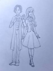 Anne and the 8th doctor (paul mcgann) by annemarijk