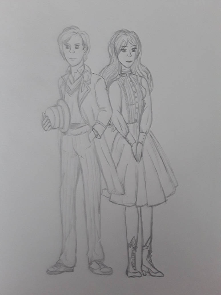 Anne and the 5th doctor (Peter Davison) by annemarijk