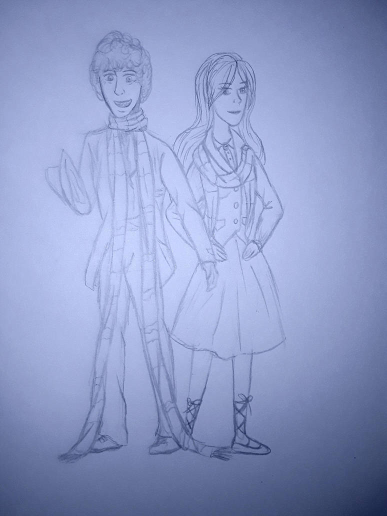 Anne and the 4th doctor (Tom Baker) by annemarijk