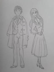 Anne and the 3rd doctor (Jon pertwee) by annemarijk