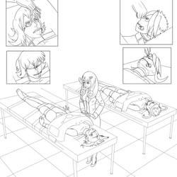 Asylum Day 2 Motoko and Kiva Breast Enhancement by HKR06