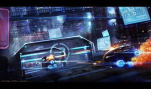 Sci-fi Race by johnsonting