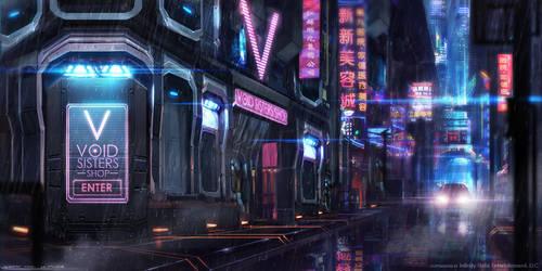 Rainy city by johnsonting