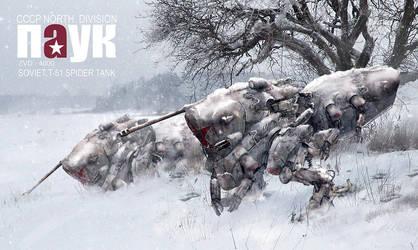 Soviet Spider Tank by johnsonting