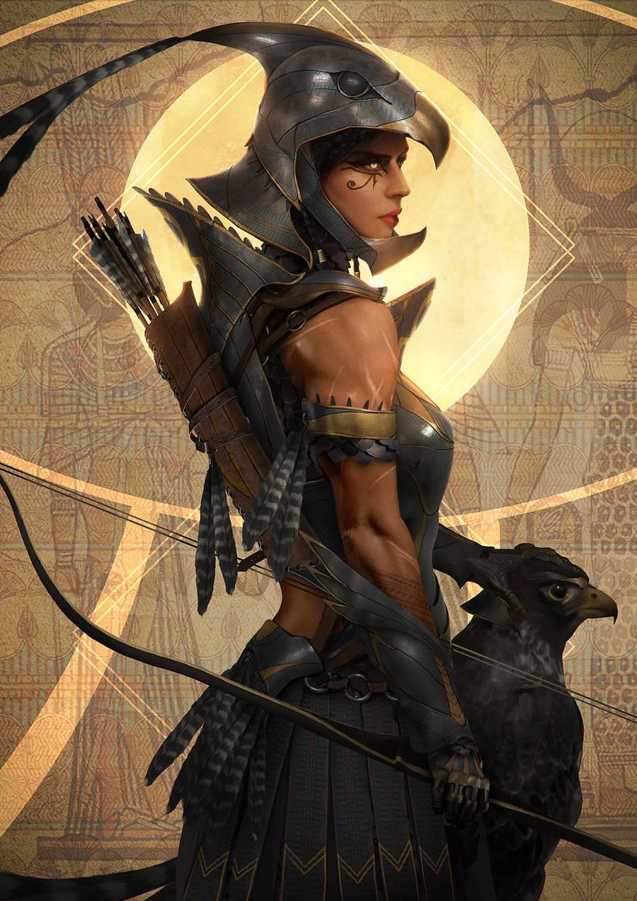 Horus, Queen of wings by johnsonting