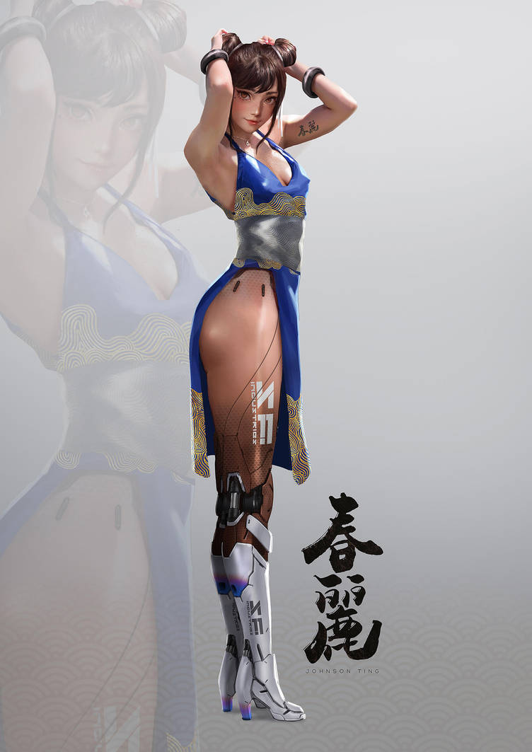 Mechanical Legs Chun Li by johnsonting