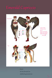 Introducing: Emerald Capriccio (Character Sheet) by Aya-dono