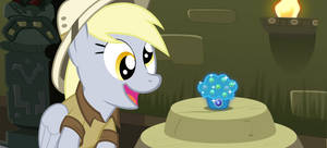 Daring Derpy and the sapphire muffin by BaumkuchenPony