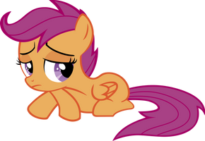 disappointed Scootaloo by BaumkuchenPony