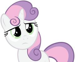 Sweetie Belle does not approve by BaumkuchenPony