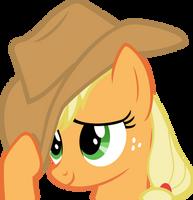 flattered Applejack by BaumkuchenPony