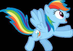 excited Rainbow Dash by BaumkuchenPony