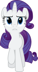 Concerned Rarity by BaumkuchenPony