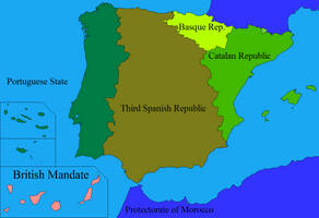 Proposed partition of Spain after WW2 by DinoSpain