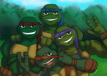 50 shades of green - Turtle cuties by Liilaa