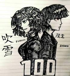 100th deviation( fubuki and shigeo)  by Rvuap
