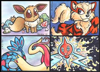 Pokemon ATCs by chrispco