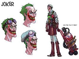 Joker initial doodles by Chuckdee