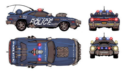 DCOMMO.GothamSquadCar by Chuckdee