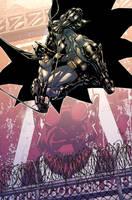 ArkhamCity Batmanjumpin'color by Chuckdee