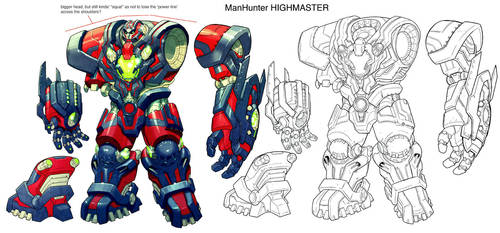 Green Lantern. Manhunter design.collab by Chuckdee