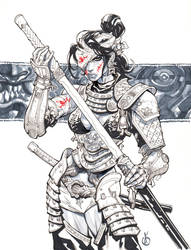 Samuray Girl dos by Chuckdee