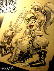 Harley commish SDCC13 by Chuckdee