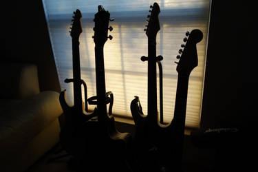 Guitar Sunrise by BatteryAcid2