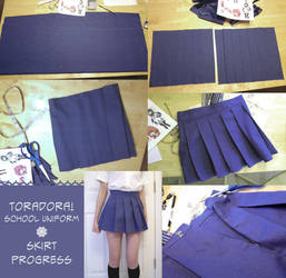 Toradora School Uniform Skirt by LiJianliang