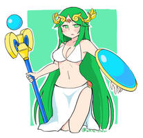 Palutena by white-stew