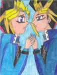 Yami Yugi and Yugi Muto - Wanting to be close! by MutouYuugiAiboufan
