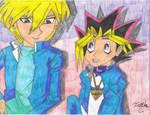 Yugi Muto and Joey Wheeler! by MutouYuugiAiboufan