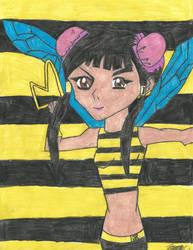 Yu-Gi-Oh! Teen Titans - Vivian Wong - Bumblebee! by MutouYuugiAiboufan
