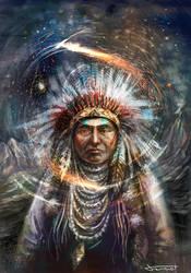 Native american Magazine cover by bocho