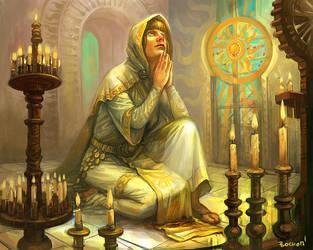 Sun priest by bocho