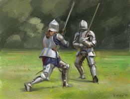 Knights study by bocho