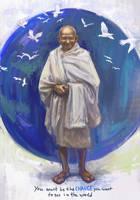 Mahatma Gandhi - Change by bocho
