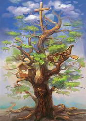 Three lebanese cedars legend by bocho