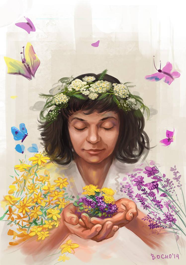 Herbalist girl by bocho