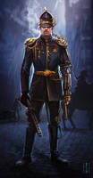 Steampunk vintage policeman by bocho