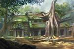 Cambodia landscape by bocho